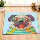 Fashion Funny Puppy 100% Polyester Waterproof Fabric Shower Curtain Bathroom Mat