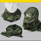 "Outdoor Tactical Scarf Wrap Mask Shemagh Sniper Veil 68""x33"" Camo Khaki OD"
