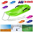 Skiing Board Sled Luge Snow Grass Sand Board Pad With Rope For Double People IQ $44.38 AUD
