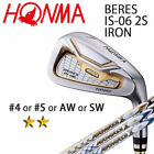 HONMA GOLF JAPAN BERES IS-06 SINGLE IRON (#4,5,AW,SW) ARMRQ X 2S 2018 / 091802