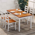 Solid Pine Wood Dining Sets Table & Chairs Furniture White/Honey Kitchen Home