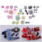 10pcs Kids Baby Girls Bowknot Hair Clips Lace Flower Pins Gift Princess Barrette