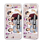 ONE DIRECTION GROUP PHOTO LIQUID GLITTER CASE FOR APPLE iPHONE & SAMSUNG PHONES