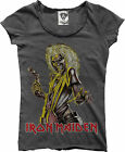 Amplified - Iron Maiden Killers Logo Rock Band Damen T-Shirt (Grau) (S-L)