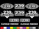10 DECAL SET 239 CI V8 POWERED ENGINE STICKERS EMBLEMS VINYL FLATHEAD DECALS