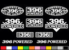10 DECAL SET 396 CI V8 POWERED ENGINE STICKERS EMBLEMS BBC SS VINYL DECALS