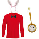 CHILDRENS KIDS RABBIT FANCY DRESS COSTUME TOP BOW CLOCK EARS BOOK WEEK DAY