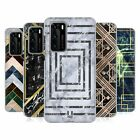 HEAD CASE DESIGNS GEOMETRIC MARBLE SOFT GEL CASE FOR HUAWEI PHONES