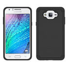 For Samsung Galaxy J7 Neo Shockproof Rugged Hybrid Rubber Case+Screen Protector