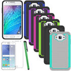 For Samsung Galaxy J7 Neo Shockproof Rugged Rubber Case Cover+Screen Protector