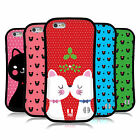 HEAD CASE DESIGNS CHRISTMAS CATS HYBRID CASE FOR APPLE iPHONES PHONES