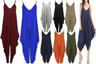 NEW SUMMER SLEEVELESS V NECK STRAPPY ¾ LENGTH CAMISOLE LADIES CAMI JUMPSUIT