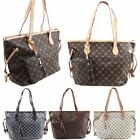 New Checkered Floral Print Faux Leather Ladies Fashion Shoulder Shopper Bag