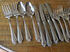 29 pc Pfaltzgraff Biscayne Glossy Stainless Flatware Meat, Knives, Forks, Spoons
