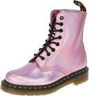 Dr. Martens PASCAL DF 8-Eye MALLOW PINK Reflective Boots STIEFEL Rockabilly