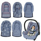Infant Baby Toddler car seat , stroller travel head support pillow PRINTED DENIM