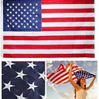 American Flag Nylon Embroidered Stars Sewn Stripes USA Heavy Duty VARIATIONS NEW