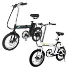 """16"""" 250W Folding Electric Mountain Bicycle EBike Speed Lithium Battery 2 Colors"""