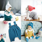 Baby Sweater Solid Jumpsuit Newborn Boys Girls Knitted  Clothing Romper JR