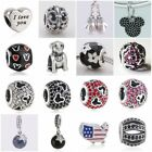 Authentic Solid 925 Sterling Silver Charms S fit European Bead Charm Bracelets