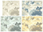 Crown Oriental Landscape - Chinese Toile Wallpaper - Shabby Chic Wall Decor