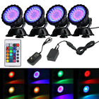 36 LED  Submersible RGB Pond Spot Lights Underwater Pool Fountain IP68+IR Remote