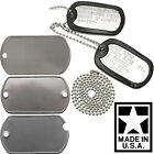 Внешний вид - Made In USA Custom Printed Dog Tags Personalized Military GI Army ID Dogtag Set