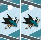 San Jose Sharks Cornhole Wrap NHL Hockey Game Board Skin Set Vinyl Decal CO204 $39.95 USD on eBay