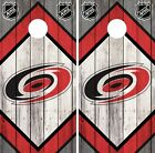 Carolina Hurricanes Cornhole Wrap NHL Logo Game Board Skin Set Vinyl Decal CO227 $39.95 USD on eBay