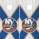 New York Islanders Cornhole Wrap NHL Logo Game Board Skin Set Vinyl Decal CO241 $39.95 USD on eBay