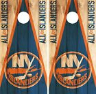 New York Islanders Cornhole Wrap NHL Game Board Skin Set Vinyl Decal Decor CO243 $39.95 USD on eBay
