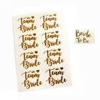 PACK OF 8 TEAM BRIDE & 1 BRIDE TO BE GOLD TEMPORARY TATTOOS HEN PARTY NIGHT DO