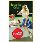 Coca-Cola Pause for Coke Baseball Wall Decal Vintage Style Coke