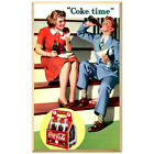 Coca-Cola Couple Coke Time 1940s Wall Decal Vintage Style Coke