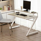 Z-Shaped 55'' Computer Desk With Hutch, Tribesigns Writing Table For Home Office