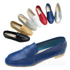 AnnaKastle Womens Soft Leather Casual Penny Loafer Flat Slip On Shoes