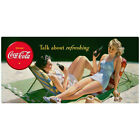 Coca-Cola Bathing Beauty Talk About Refreshing Wall Decal Vintage Style Decor $42.99  on eBay