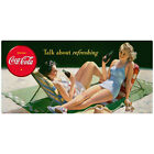 Coca-Cola Bathing Beauty Talk About Refreshing Wall Decal Vintage Style Decor
