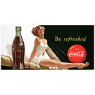 Coca-Cola Bathing Beauty Be Refreshed Wall Decal Vintage Style Decor Coke $15.99  on eBay