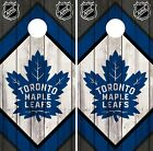 Toronto Maple Leafs Cornhole Wrap NHL Wood Game Board Skin Set Vinyl Decal CO322 $39.95 USD on eBay