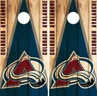 Colorado Avalanche Cornhole Wrap NHL Game Board Skin Set Vinyl Decal Art CO336 $39.95 USD on eBay