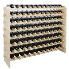 Home Pub Solid Wood Wine Rack Freestanding Storage Decor 96 72 40 36 Bottles