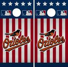 Baltimore Orioles Cornhole Wrap MLB America Game Skin Set Vinyl Decal CO367 on Ebay