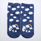 Unisex Flamingo Unicorn Socks Cotton 3D Printed Animal Low Cut Ankle Sock 1 Pair