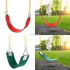Swing Seat w/ Chain Playground Outdoor Swing Set Accessories Kids Belt Hanger
