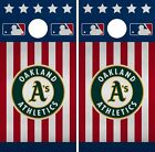 Oakland Athletics Cornhole Wrap MLB America Game Skin Set Vinyl Decal CO427 on Ebay