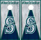 Seattle Mariners Cornhole Wrap MLB Vintage Game Board Skin Set Vinyl Decal CO453 on Ebay