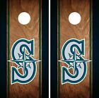 Seattle Mariners Cornhole Wrap MLB Game Board Skin Set Vinyl Decal Art CO455 on Ebay
