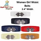 waist belts fashion - Women Girls Fashion Waist Belts Wide Fit And Flare High Waist Vintage Chain Belt