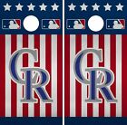 Colorado Rockies Cornhole Wrap MLB America Game Board Skin Set Vinyl Decal CO480